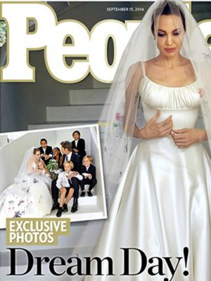 See Angelina Jolie's Custom Atelier Versace Wedding Gown