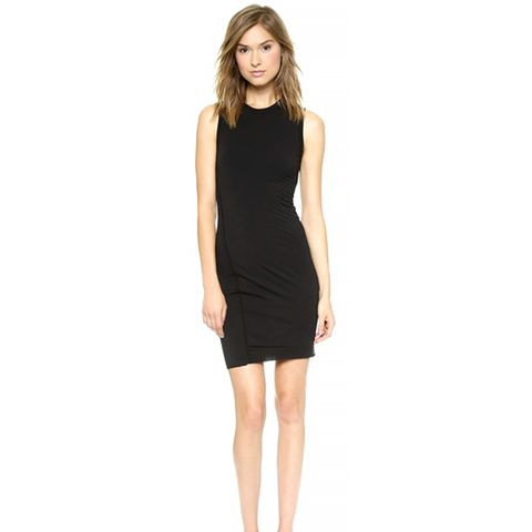 Jersey Twist Draped Sleeveless Dress