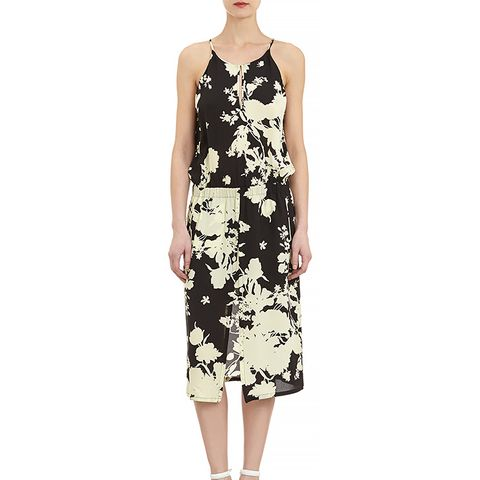 Flower Silhouette-Print Kanan Halter Dress