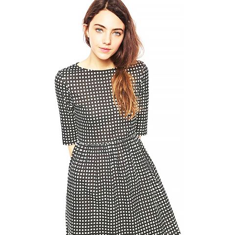 Organic Cotton Smock Dress In Check Print