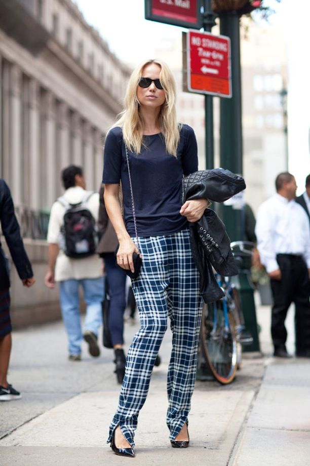 Street Style: Plaid Trousers | WhoWhatWear