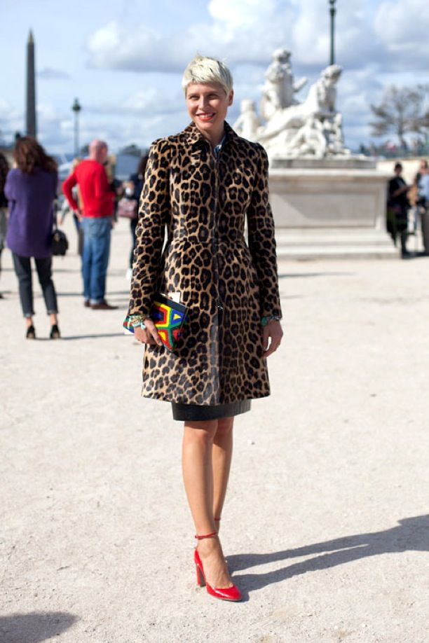 PFW Street Style: Animal Print Coats