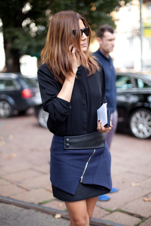 MFW Street Style: Asymmetrical Wrap Skirts