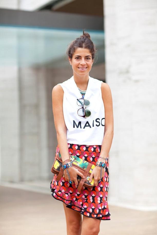 NYFW Street Style: Flare-Hem Skirts | Leandra Medine