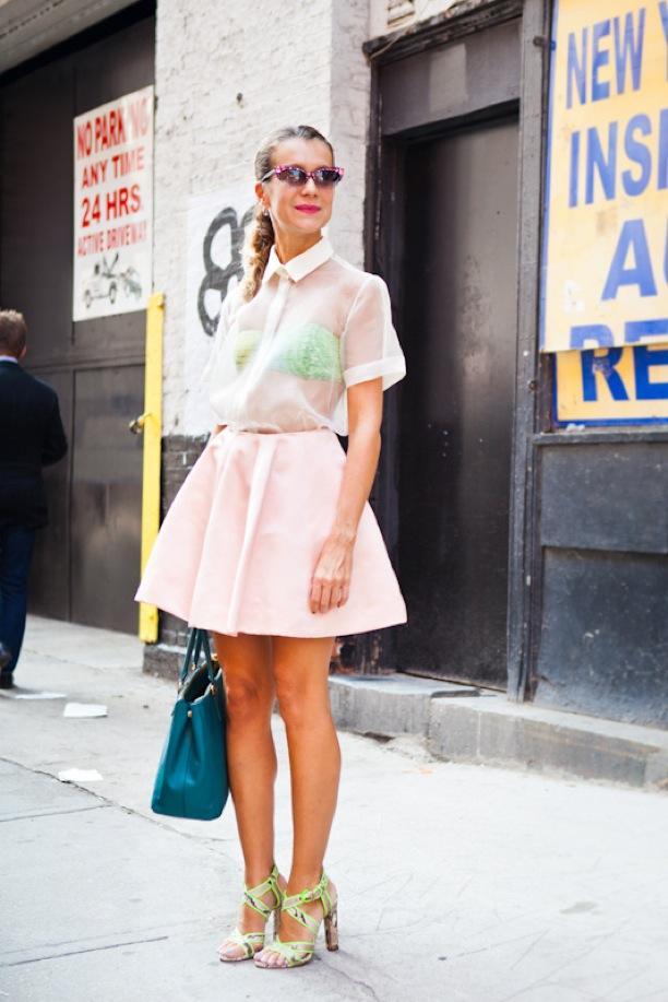 NYFW Street Style: Sheer Delights | Natalie Joos