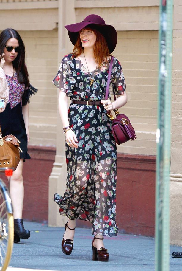 Look of the Day: Sheer Floral
