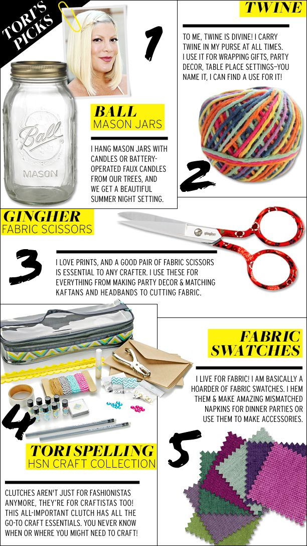 Tori Spelling and Erica Domesek Share Their Five DIY Essentials for Summer
