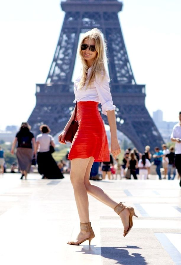Street Style: Bright Skirts + Nude Shoes