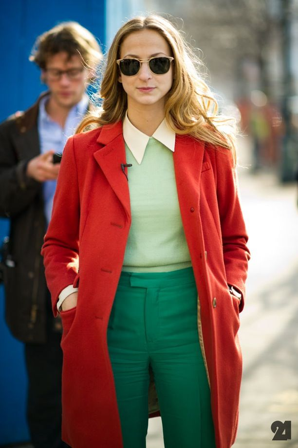 Street Style: Dapper Color-Blocking