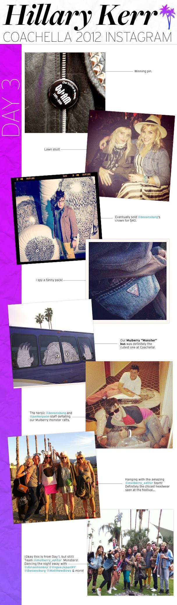 Hillary Kerr's Coachella Instagram: Day 3