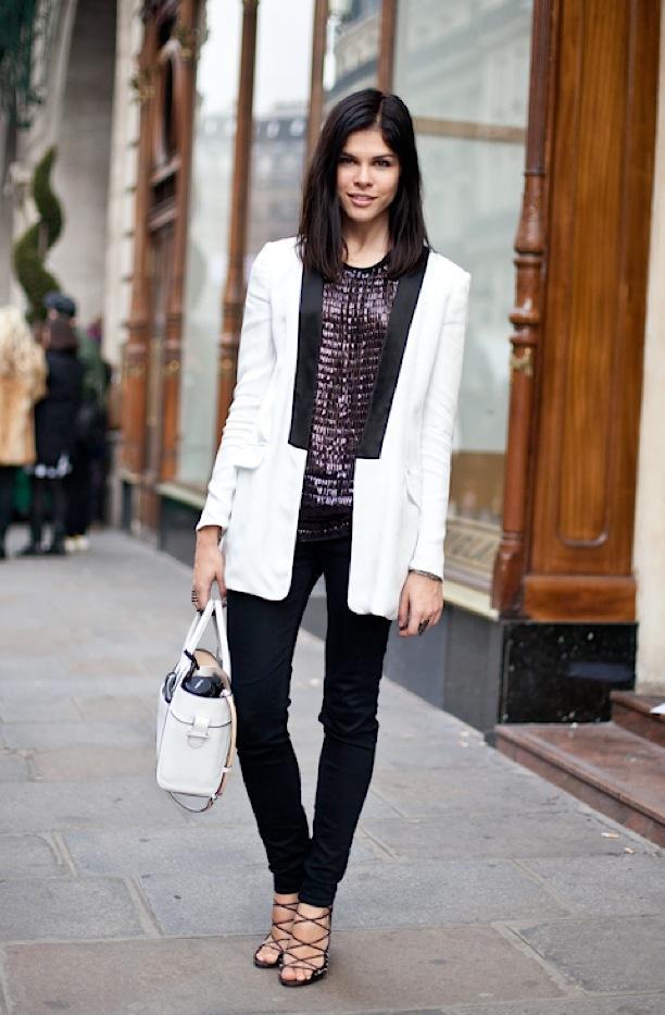 Street Style: Black + White Tuxedo Jackets