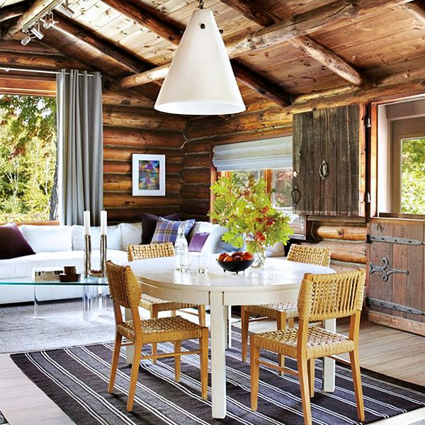 Inside the World's Chicest Log Cabin