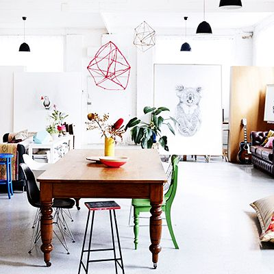 Get the Look: An Artistic Couple's Lofty Dining Room