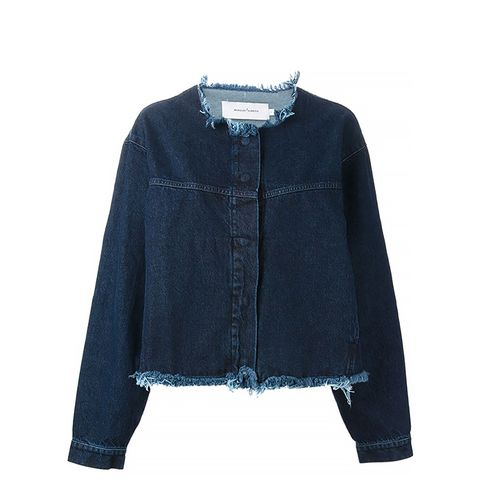 Frayed Oversized Denim Jacket