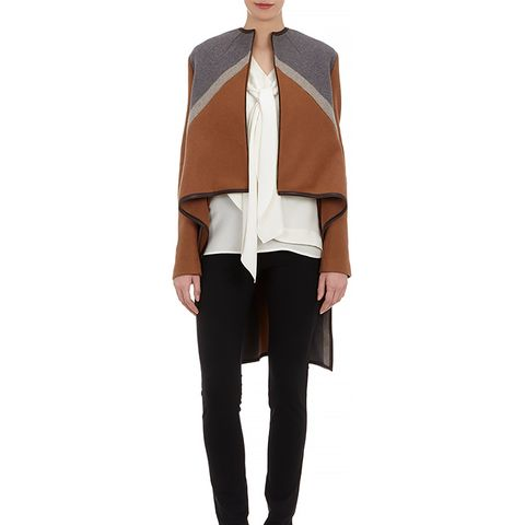 Zip-Front Cape Coat
