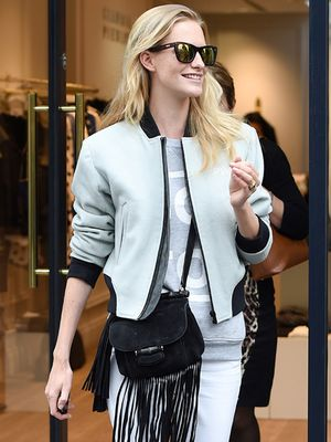 The Cool Way to Wear Your Bomber Jacket with Poppy Delevingne
