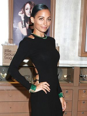 Nicole Richie's Trick for Maximizing a Sleek Black Dress