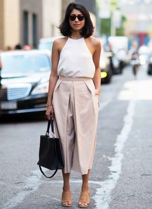 2 Ways To Wear Pale Pink Culottes