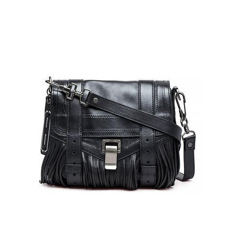 Pouch Fringed Suede Shoulder Bag