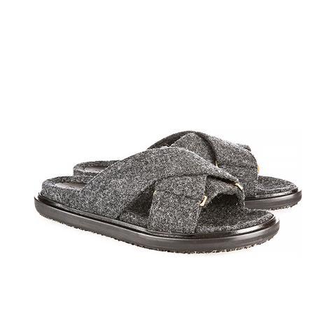 Felt Slide Sandals