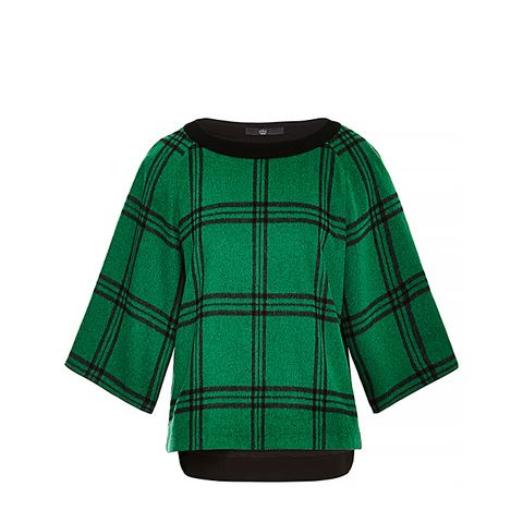 Evergreen Plaid Top