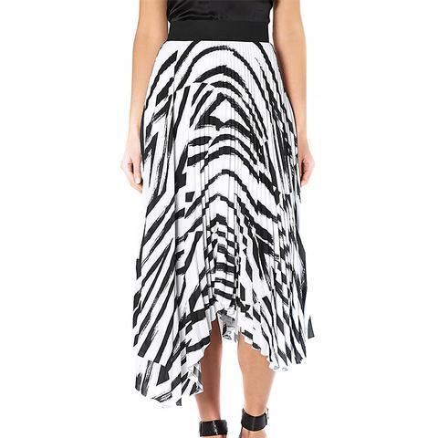 Asymmetric Pleat Skirt