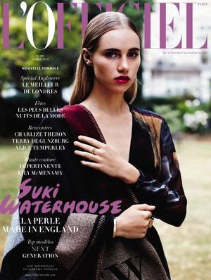 Suki Waterhouse is L'Officiel Paris' October Cover Star
