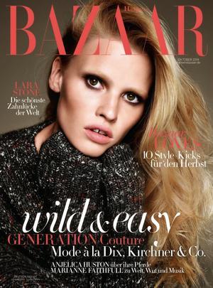 Lara Stone's Beautiful And Cozy Spread For Harper's Bazaar Germany