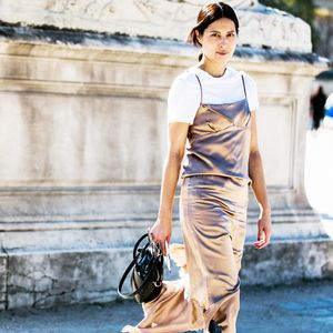 How Cool Girls Style a Slip Dress
