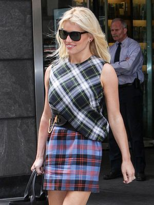 Jessica Simpson is Chic in Tartan