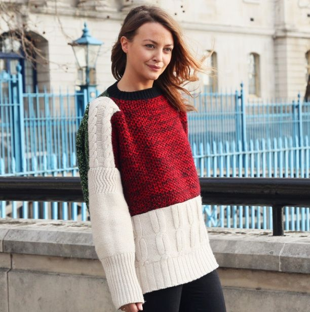 Street Style: Colour-Block Sweaters