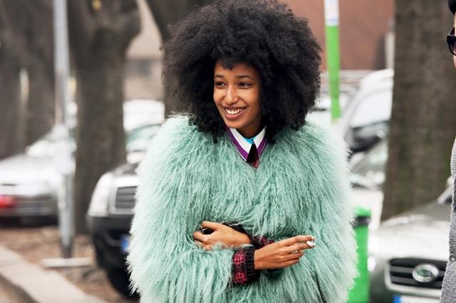 Street Style: Fuzzy Green