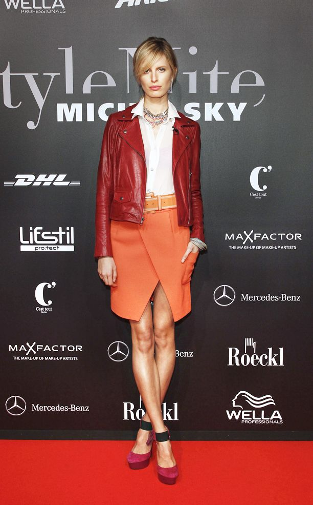 Look of the Day: Red Leather