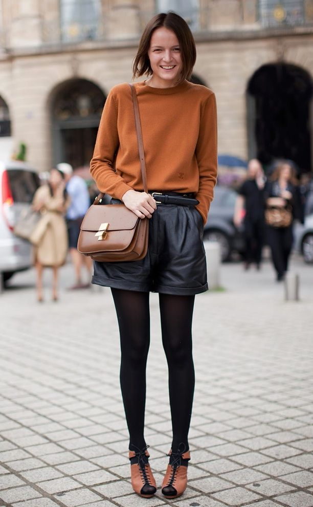 Street Style: Leather Shorts