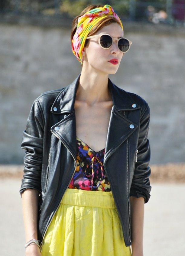 Street Style: Leather Moto Jacket