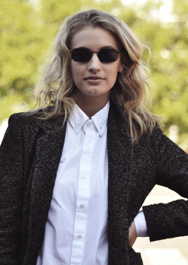 Street Style: Button Up + A Blazer