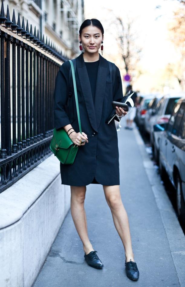 Street Style: Deep V-Neck