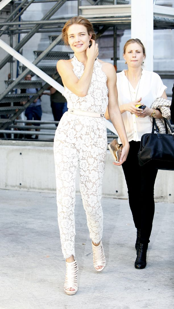 Look of the Day: White Lace