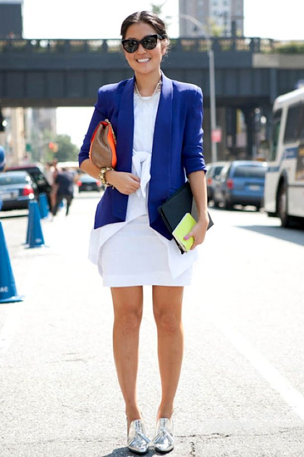 NYFW Street Style: Bright Blues