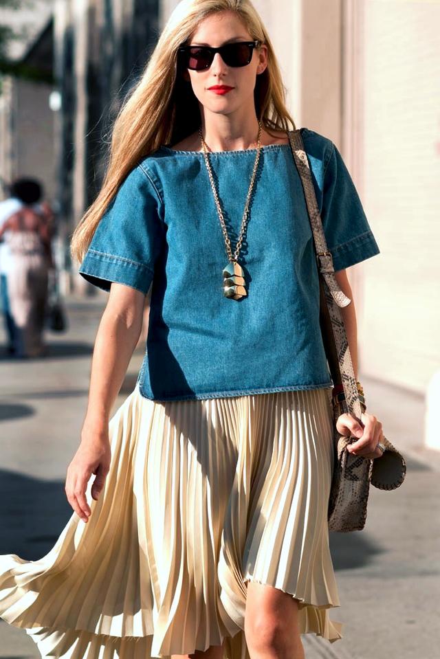 NYFW Street Style: Denim