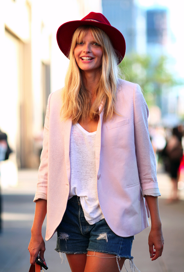 NYFW Street Style: Pale Pink