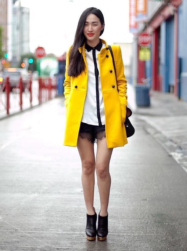 NYFW Street Style: Back + Yellow