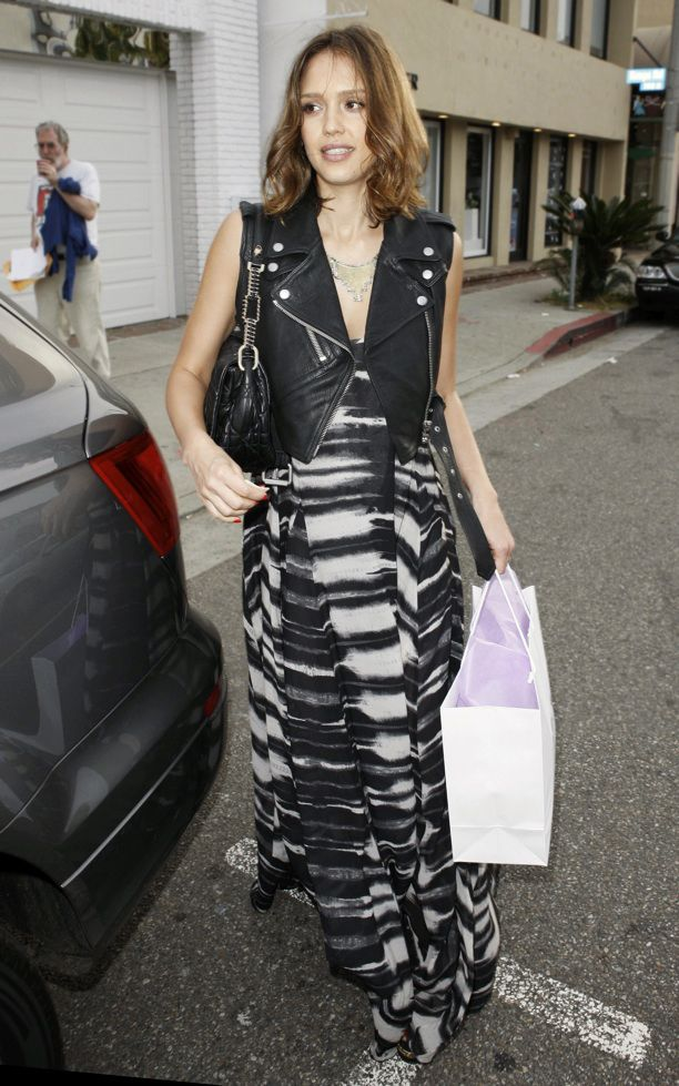 Look of the Day: Printed Maxi Dress