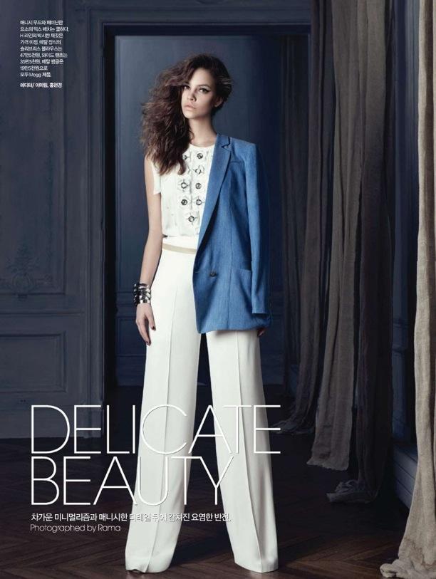 Delicate Beauty   Harper's Bazaar Korea
