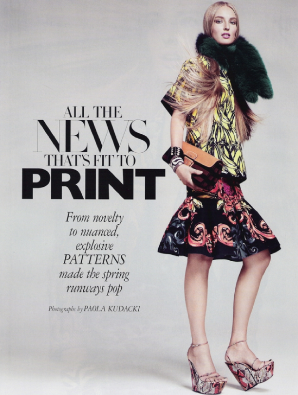 All The News That's Fit To Print | Harper's Bazaar