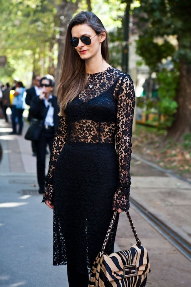 Street Style: Lace + Lingerie