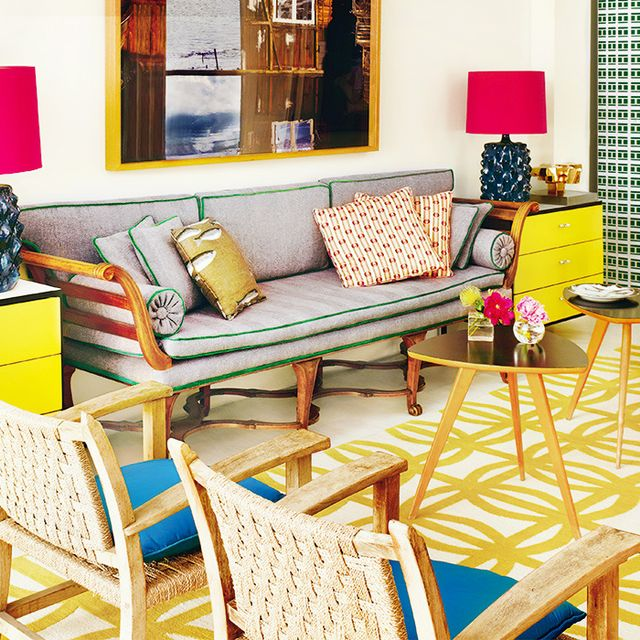 Get the Look: Primary Modernism in a Bold Living Room
