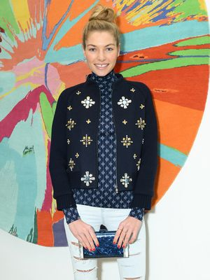 Jessica Hart is Utterly Chic in Tory Burch