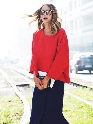 Tip of the Day: Punch Up Your Outfit With a Pop of Red
