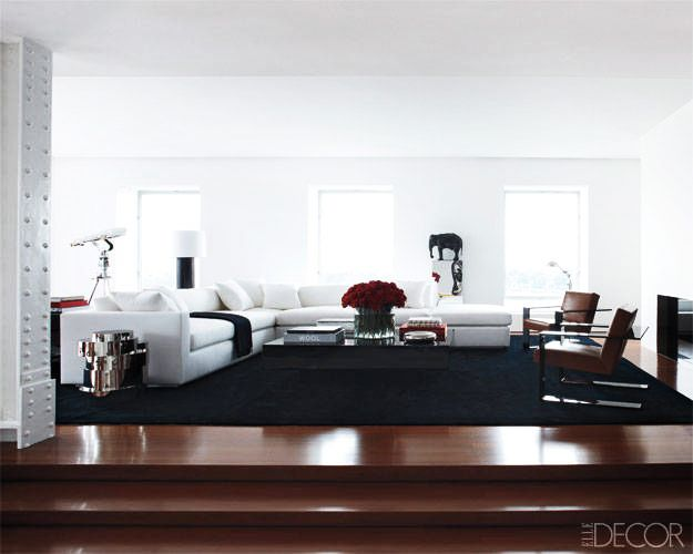 """""""This apartment was not made for entertaining—though we certainly have entertained here,"""" he told Elle Decor. """"It was made for a more private life. It's exactly what..."""